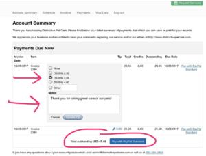 Psp Portal Payments Amp Gratuities Distinctivepetcare Com